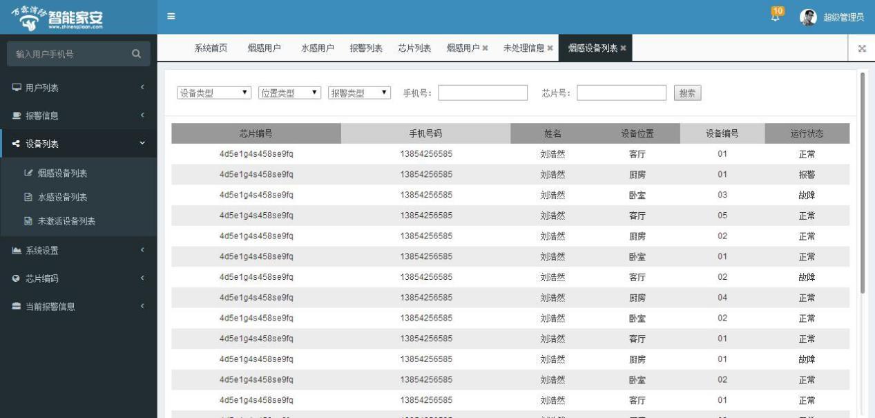 设备列表页