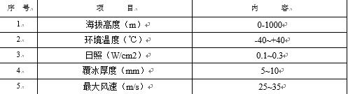 表3使用条件