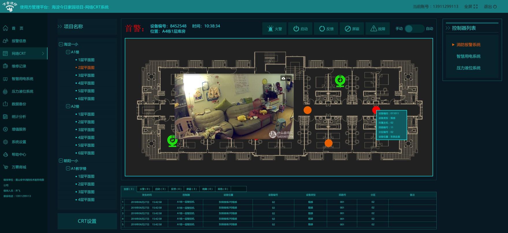 智慧消防网络CRT平面图